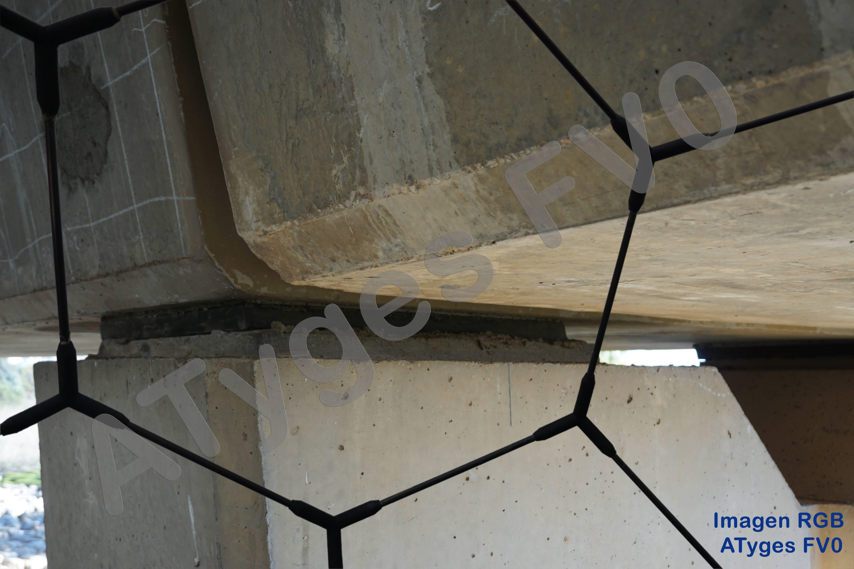 Imagen RGB en ATyges FV0. Inspección neoprenos apoyos viaducto.